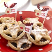 Rocking Rudolf Mince Pie/Cake Picks (20)